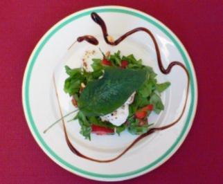 Erdbeer-Rucolasalat mit Streifen vom gegrillten Seeteufel - Rezept - Bild Nr. 2