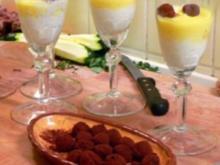 Welfenspeise mit selbst gemachten Trüffeln im Karamellnest - Rezept - Bild Nr. 2