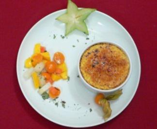 Creme Brulee vom Ziegenkäse mit exotischem Fruchtsalat - Rezept - Bild Nr. 2
