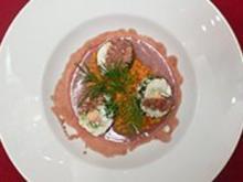 Athosrolle vom Edelfisch an Moutarde Violette - Rezept - Bild Nr. 2