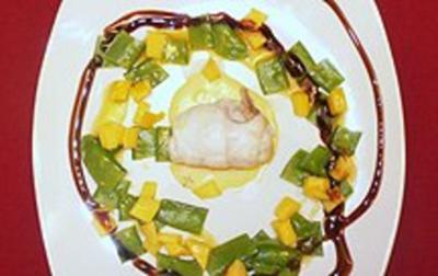 Duo von Seezunge und Jakobsmuschel an Mango-Zuckerschotensalat - Rezept - Bild Nr. 2