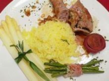 Kalbs-Lammrolle mit Parmaschinken und Rosmarin an Salbei-Kartoffelschnee - Rezept - Bild Nr. 2