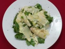 Spargelsalat mit Brunnenkresse, dazu Zuckerschoten und Champignons - Rezept - Bild Nr. 2
