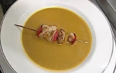 Currycremesuppe mit buntem Hähnchenspieß - Rezept - Bild Nr. 9