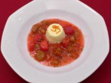 Rhabarber-Erdbeer-Kompott mit Topfenmousse - Rezept - Bild Nr. 2