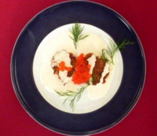 Rievkooche mit saurer Sahne und Kaviar - Rezept - Bild Nr. 2