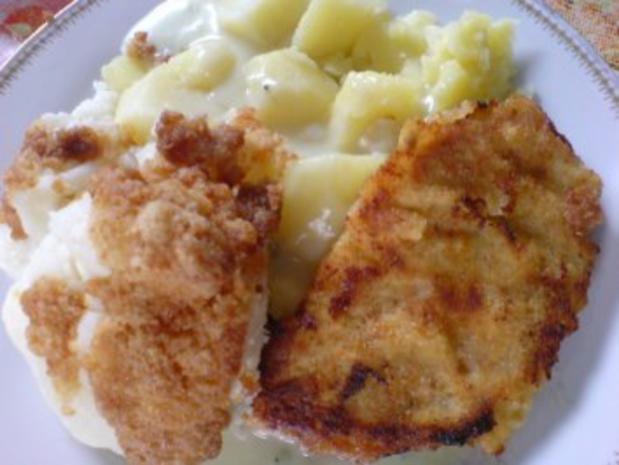 Schnitzel mit Blumenkohl und heller Soße - Rezept - Bild Nr. 2