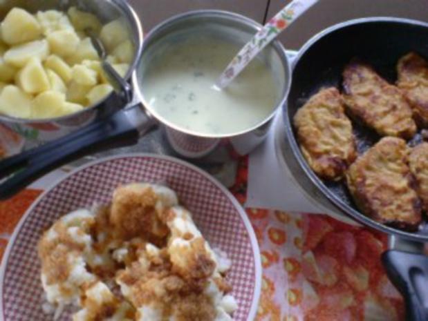 Schnitzel mit Blumenkohl und heller Soße - Rezept - Bild Nr. 14