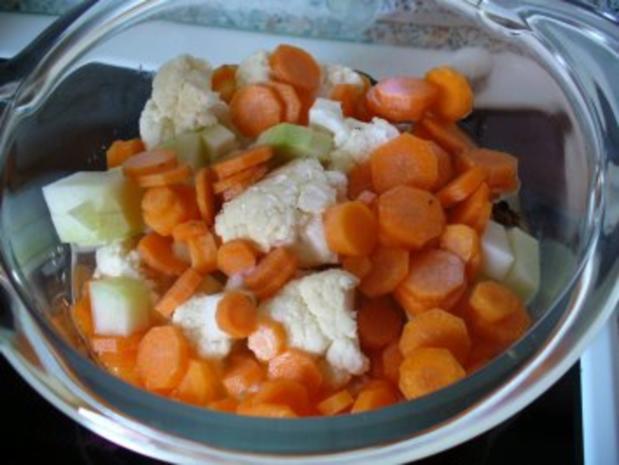 Kleine Buletten, Kartoffeln, Mischgemüse und grüner Salat - Rezept - Bild Nr. 6