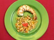 Hülsenfrüchtesalat mit Emmer und Garnelen - Insalata di farro e legumi - Rezept - Bild Nr. 2