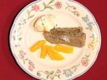 Warme Mohntarte mit Orangensalat und Walnusseis - Rezept - Bild Nr. 2