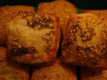 Blätterteigtaler mit mediteraner Füllung - Rezept