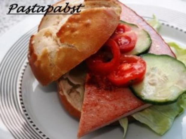 Leberkäs-Burger - Rezept