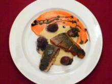 Filet vom Red Drum mit Artischocken-Püree und Trüffelkartoffeln - Rezept - Bild Nr. 2