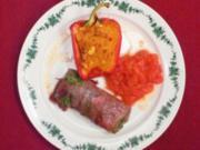 Lammfilet im Bärlauch-Schinken-Mantel mit gefüllter Paprika - Rezept - Bild Nr. 2