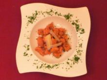 Selbst gemachte Kürbis-Gnocchi mit Parmesan oder frischem - Rezept - Bild Nr. 2
