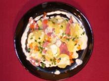 Kartoffelcarpaccio mit geräucherter Entenbrust und Forellenkaviar - Rezept - Bild Nr. 2