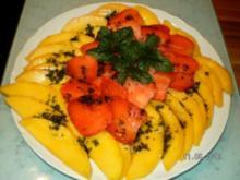 Mango-Erbeer-Carpaccio - Rezept