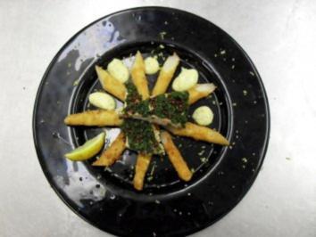 Fritierter Spargel mit Kräuter Zander - Rezept