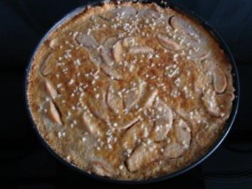 Apfel-Tarte mit Rahmguß - Rezept