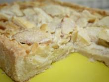 Kuchen: Apfel und Marzipan in Teigrechteck - Rezept