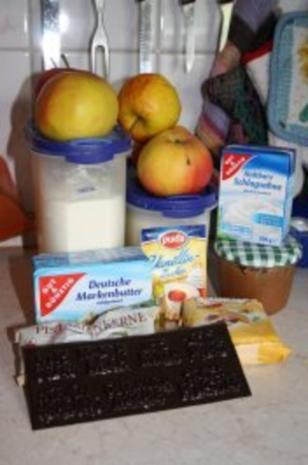 Kuchen: Apfel und Marzipan in Teigrechteck - Rezept - Bild Nr. 2
