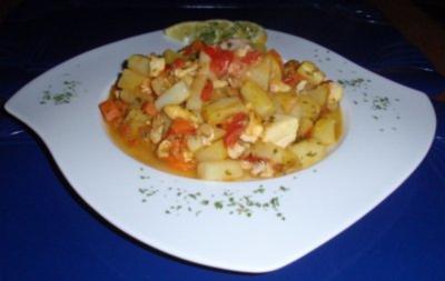 Rotbarsch-Gemüse-Pfanne - Rezept