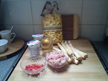 Rezept: Puten-Spargel -Pfanne