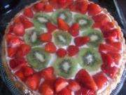 Meine schnelle Erdbeer Kiwi Torte - Rezept