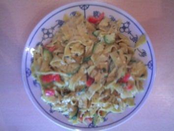 Rezept: Chili - Bärlauch Nudeln ( ohne Fleisch )