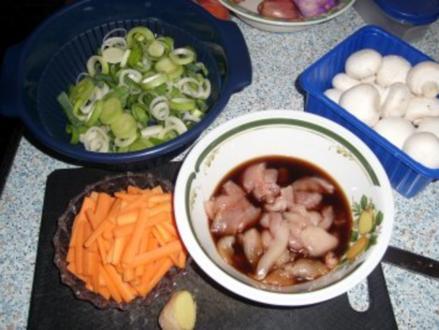 Teriyaki-Hähnchen mit Bratgemüse - Rezept