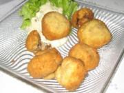 Gebackene Champignons mit Sauce - Rezept