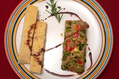 Couscous-Salat mit grünem Spargel und Kräutern, dazu Rosmarin-Focaccia - Rezept - Bild Nr. 9