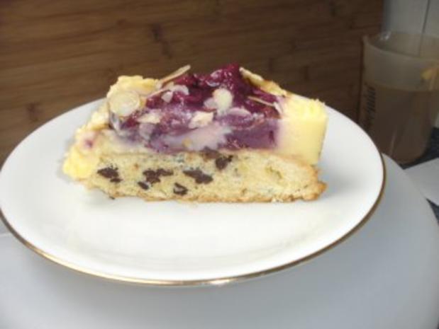 Schoko-Kirsch-Kuchen mit Puddingcreme - Rezept - Bild Nr. 2