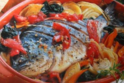 Dorade im Gemüsebett - Rezept