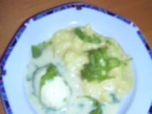 Eier mit Senf-Rucola-Soße - Rezept