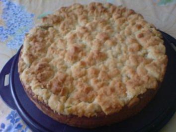 Rhabarber-Pudding-Kuchen - Rezept