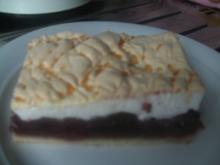 Kirschkuchen mit Baiserdecke - Rezept