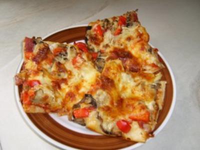 eine schnelle Pizza für die Kids - Rezept
