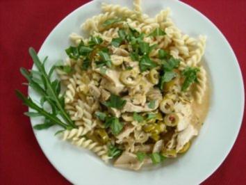 Hähnchen mit Oliven - Rezept