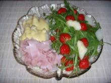 Spargel mit Rucola und Erdbeeren - Rezept