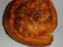 """Blätterteig """"Pizza""""-Schnecken - Rezept"""