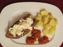 Gefüllte Auberginen mit Rinderhack und Kartoffeln - Rezept