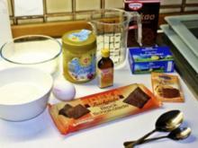 Devils Food Cake mit weißem Frosting - Rezept