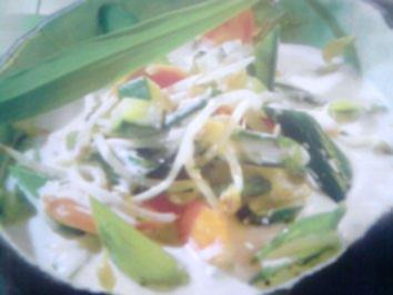 Gemüse in Kokos-Bärlauch-Soße - Rezept