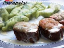 Filet mit Gorgonzolakruste und Bärlauchgnocchis - Rezept