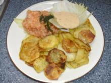 Lachstatar mit Röstkartoffeln und Dillsauce - Rezept