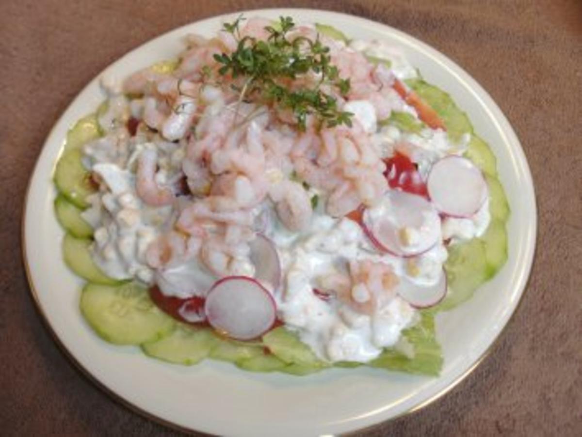 Feinschmeckersalat Variante 1 .... mit Shrimps.....Trennkost - Rezept Von Einsendungen Backfee1961