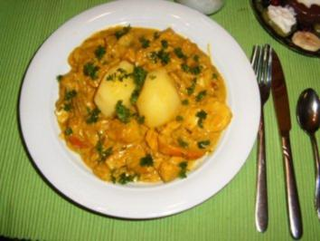 Seelachs-Curry - Rezept