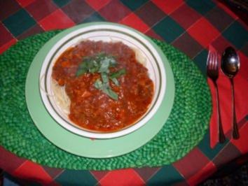 Rezept: Pastasoße Bolognese mit Bärlauch